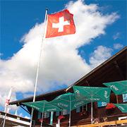 Schweizerfahne Fahnenmast Fahnenstange